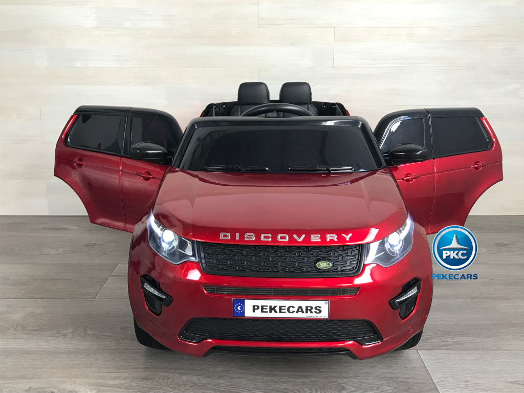 Coche eléctrico infantil Land Rover Discovery 12V MP4 rojo metalizado frontal