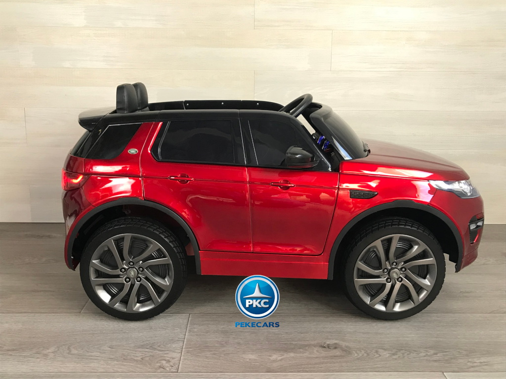 Coche eléctrico infantil Land Rover Discovery 12V MP4 rojo metalizado lateral