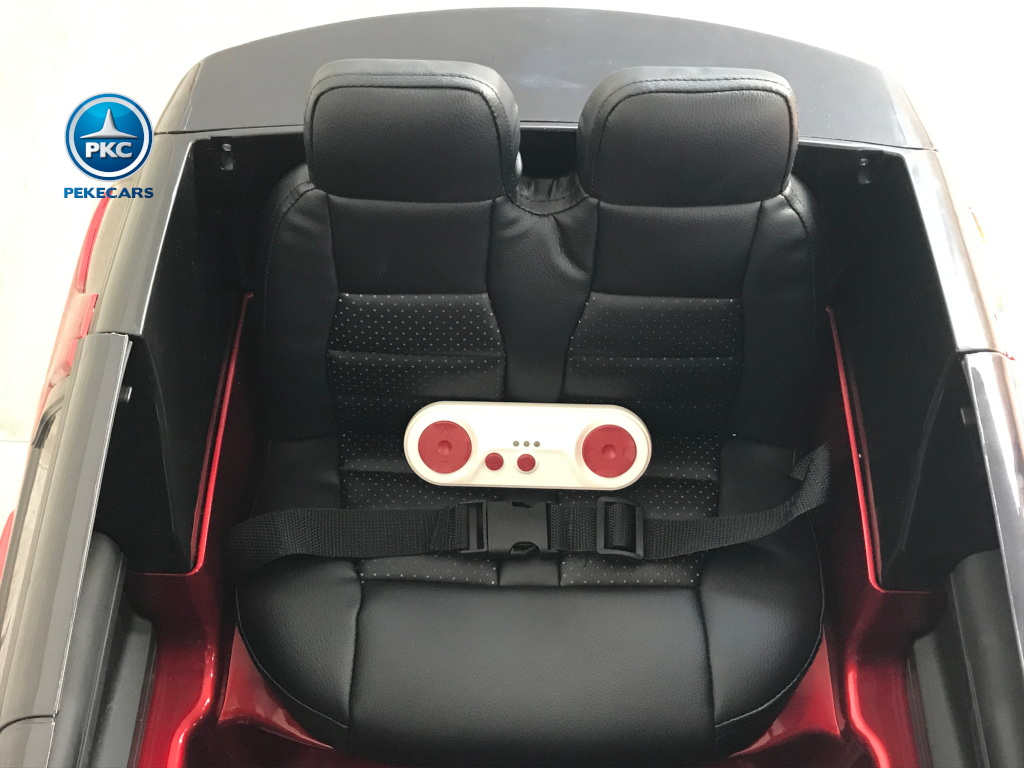 Coche eléctrico para niños Land Rover Discovery 12V MP4 rojo metalizado mando radiocontrol