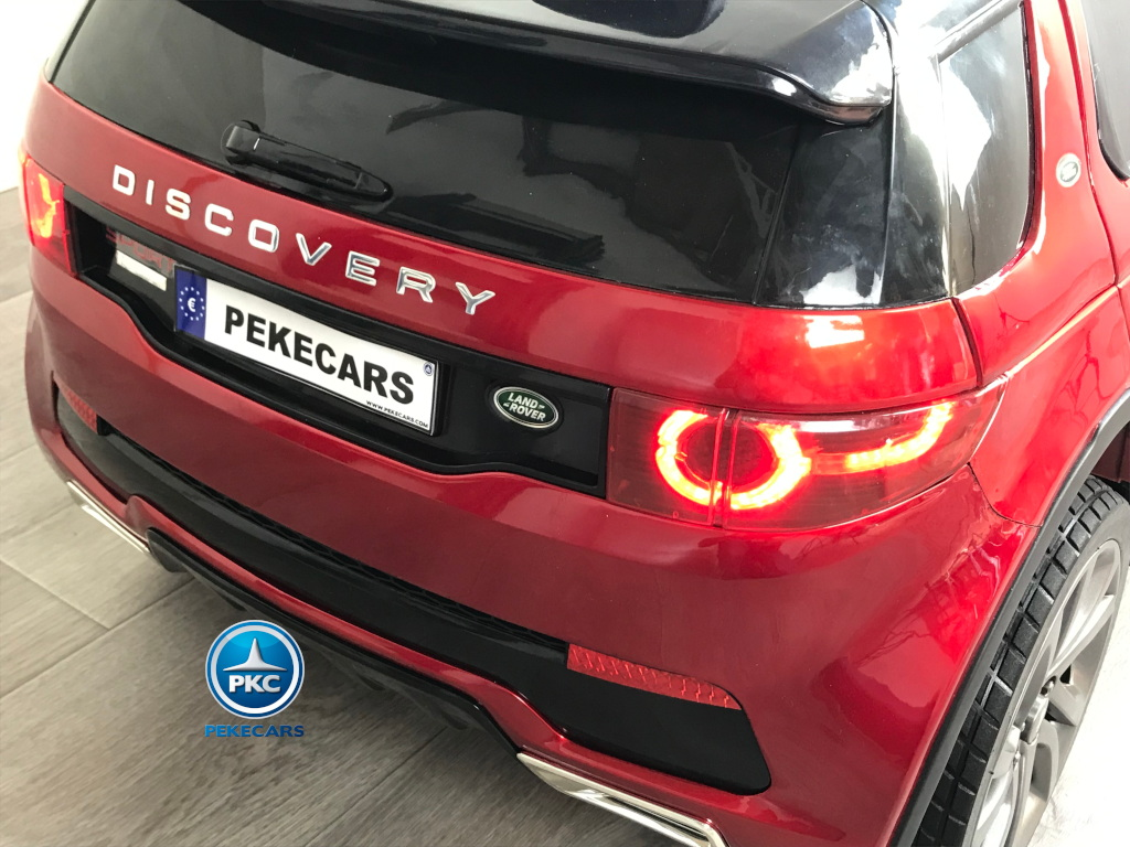 Coche eléctrico infantil Land Rover Discovery 12V MP4 rojo metalizado