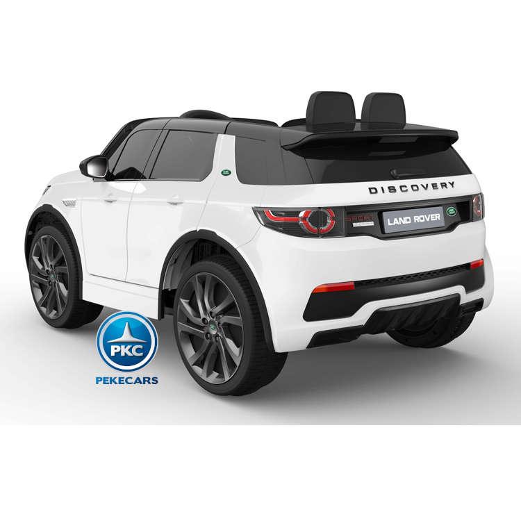 Coche eléctrico para niños Land Rover Discovery 12V MP4 blanco