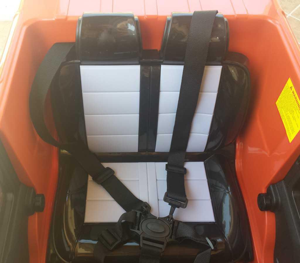 Todoterreno electrico para niños Land Rover Defender Naranja