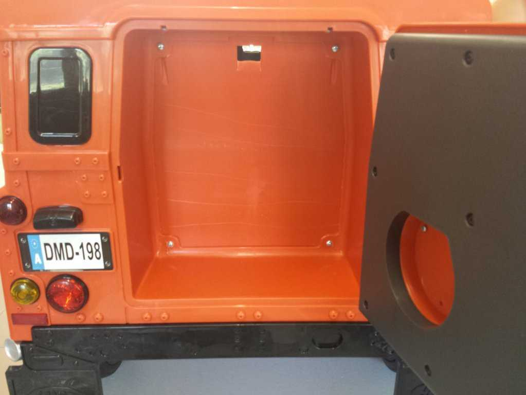 Maletero Land Rover Defender Infantil Orange