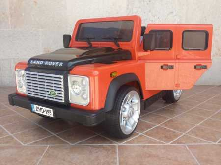 Land Rover Infantil Modelo Defender Color Orange 12V 2.4G