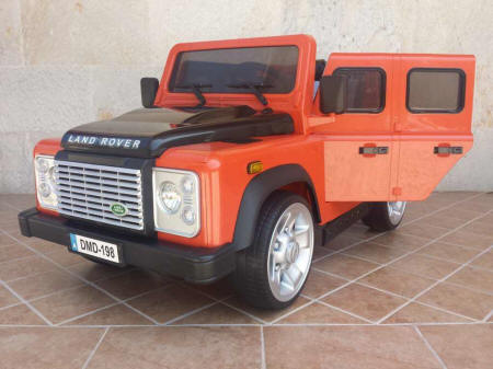 Land rover defender naranja