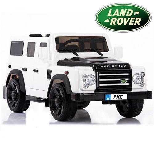 Todoterreno electrico para niños Land Rover Defender Blanco vista principal