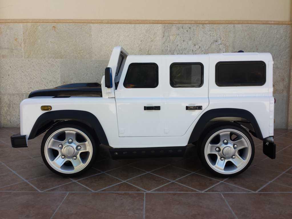 Comprar Todoterreno electrico para niños Land Rover Defender Blanco