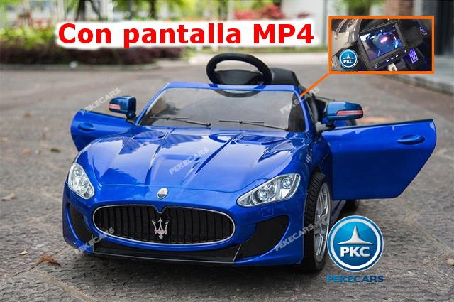Coche electrico para niños Maserati Alfieri Azul con Pantalla MP4 vista principal