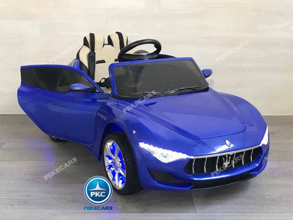 Coche electrico infantil Maserati Alfieri Azul con Pantalla MP4