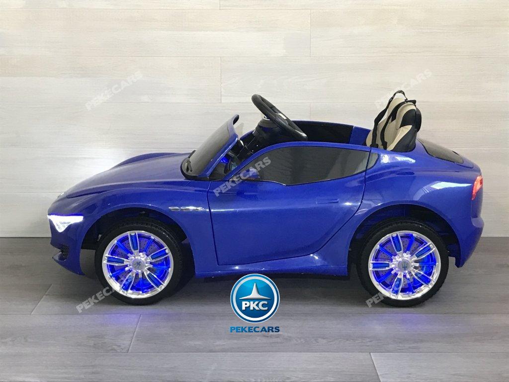 Coche electrico para niños Maserati Alfieri Azul con Pantalla MP4