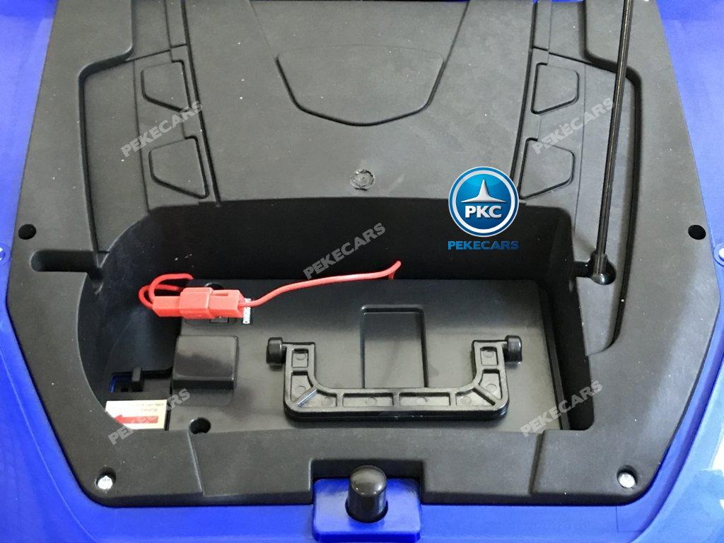 Coche electrico infantil Maserati Alfieri Azul con Pantalla MP4 bateria extraible