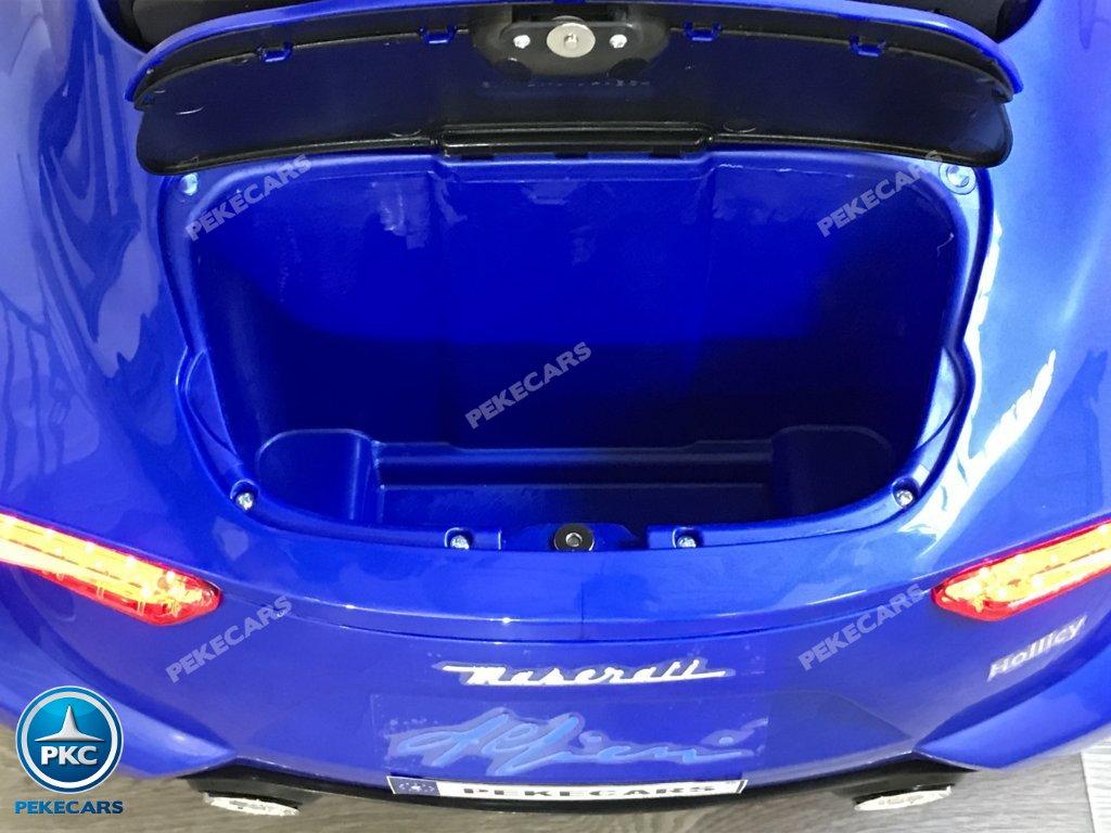 Coche electrico para niños Maserati Alfieri Azul con Pantalla MP4 maletero