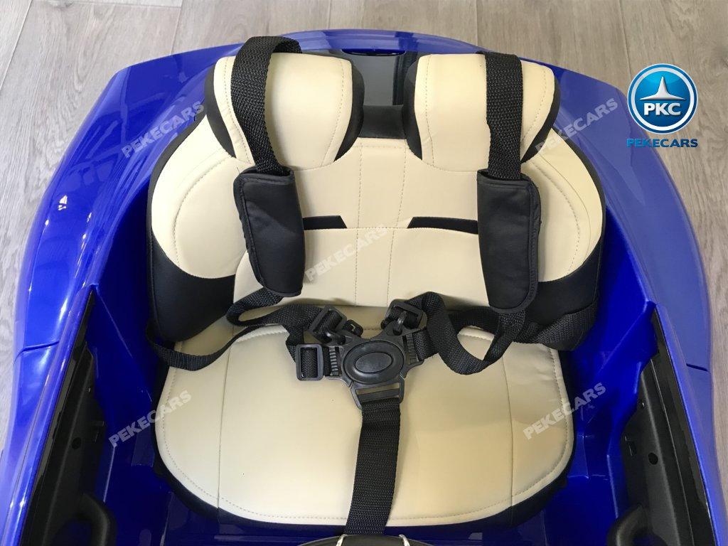 Coche electrico infantil Maserati Alfieri Azul con Pantalla MP4 asiento piel