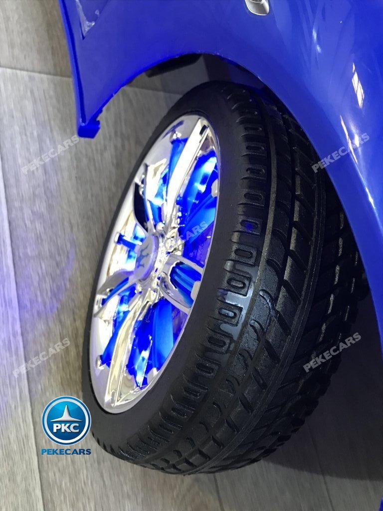 Coche electrico para niños Maserati Alfieri Azul con Pantalla MP4 ruedas con luces
