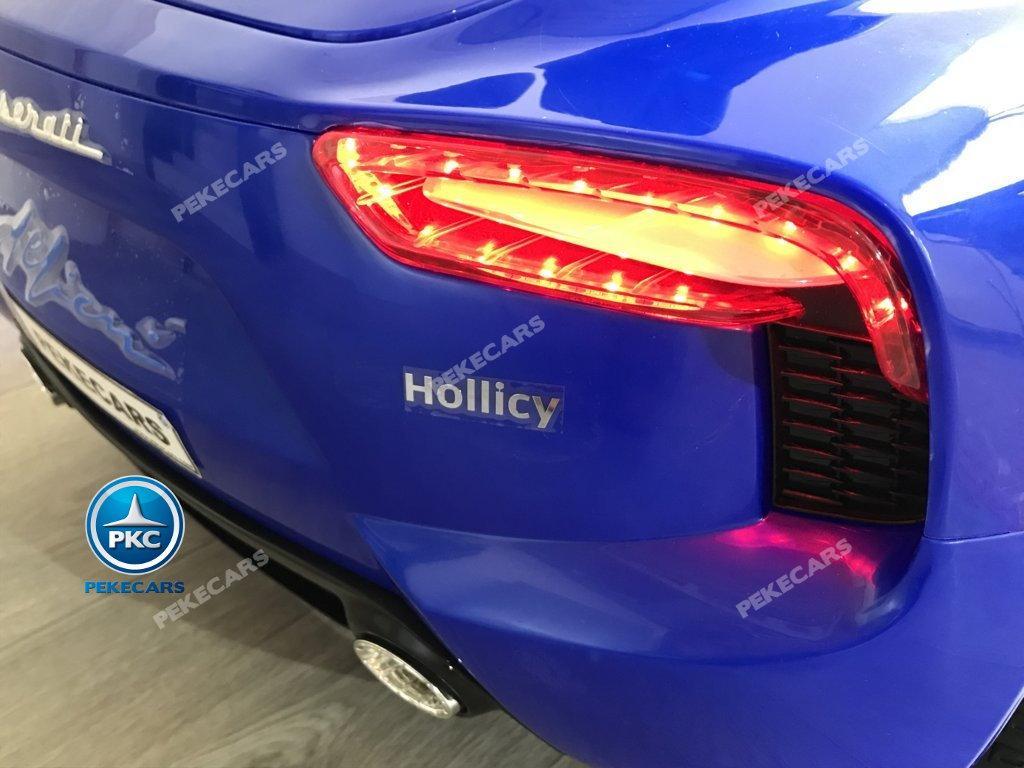 Coche electrico infantil Maserati Alfieri Azul con Pantalla MP4 luces traseras