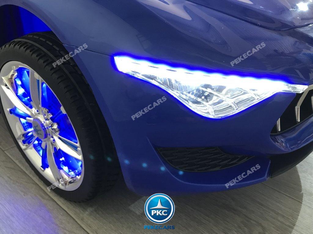 Coche electrico para niños Maserati Alfieri Azul con Pantalla MP4 luces frontales