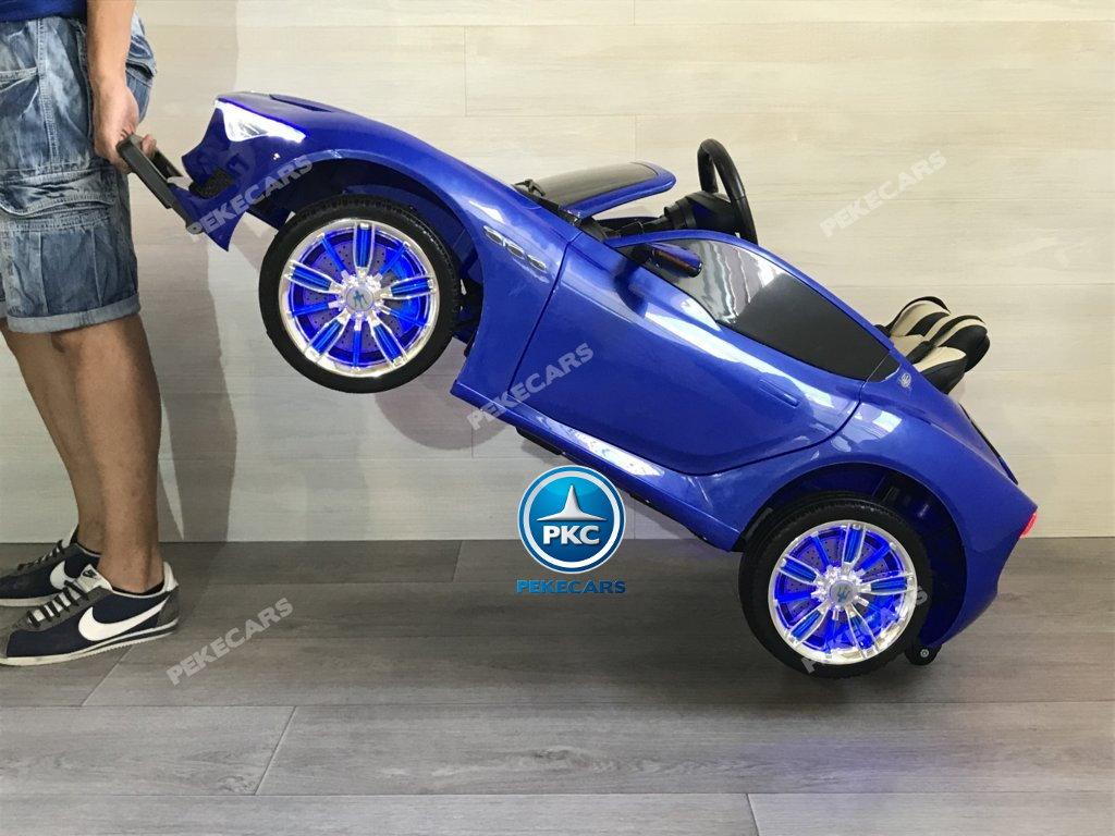 Coche electrico infantil Maserati Alfieri Azul con Pantalla MP4 con sistema stroller
