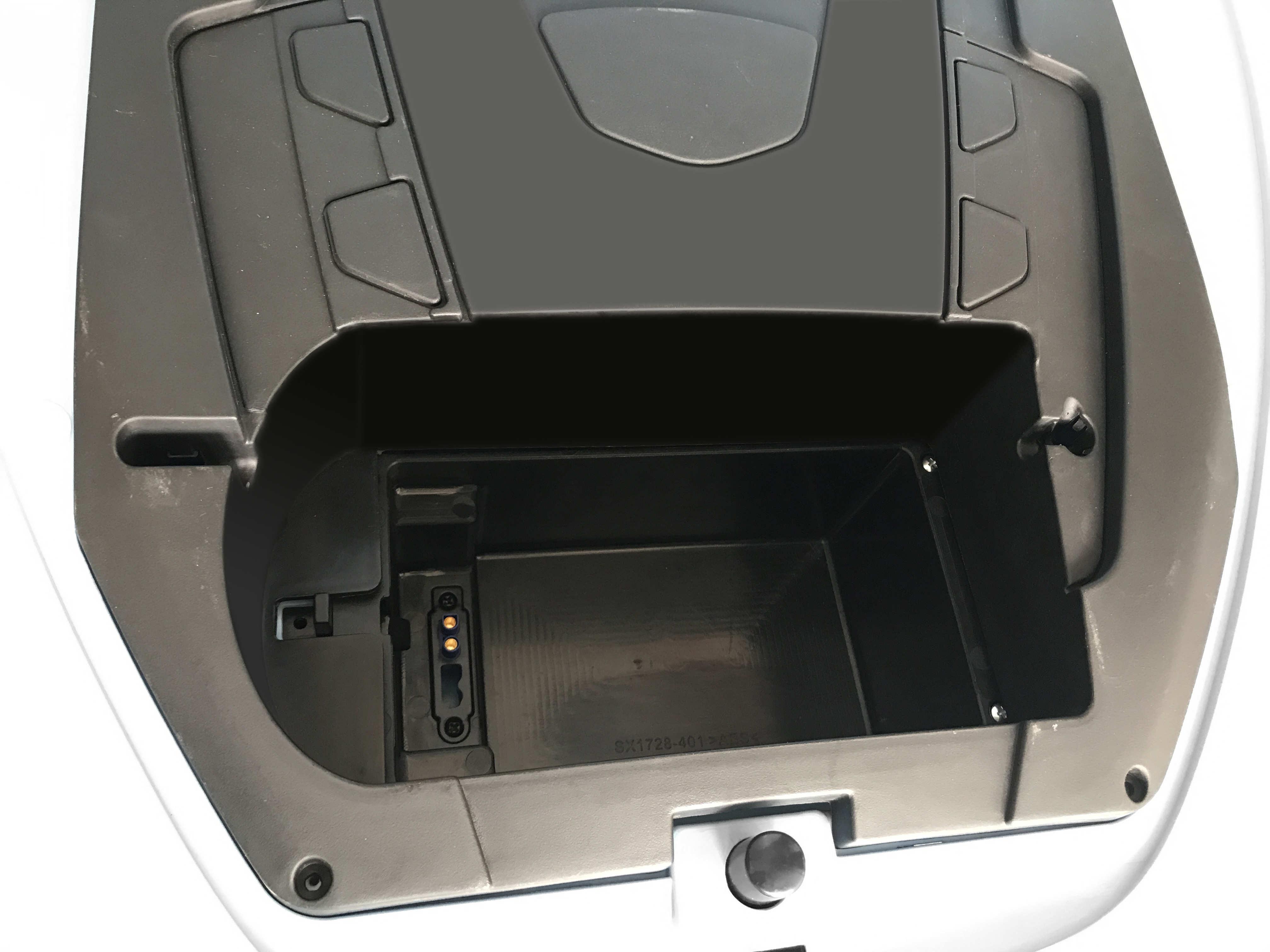 Coche electrico para niños Maserati Alfieri Blanco con Pantalla MP4 vista lateral
