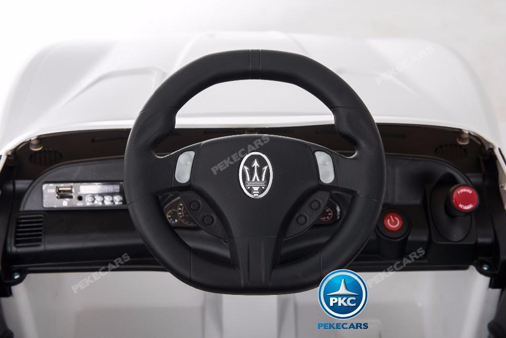 Coche electrico infantil Maserati Gran Turismo 12V Blanco volante