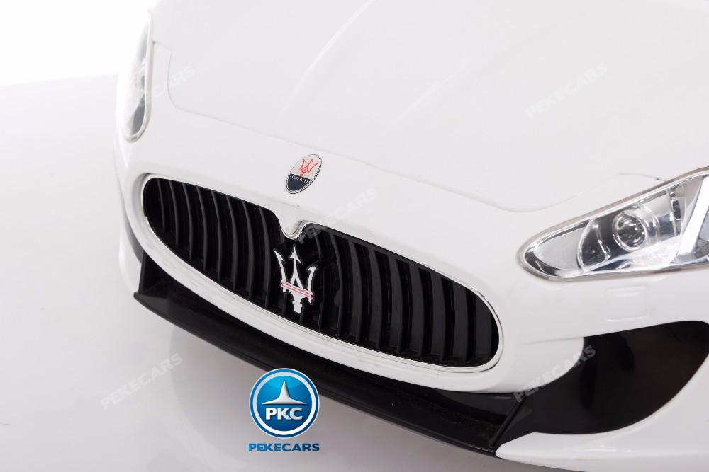 Coche electrico para niños Maserati Gran Turismo 12V Blanco
