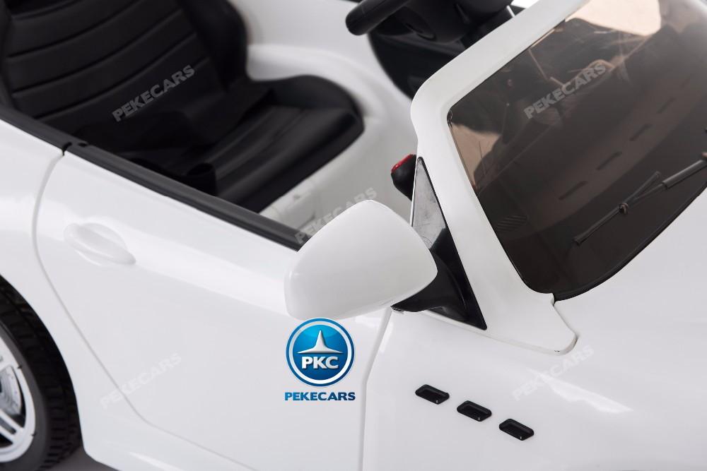 Coche electrico infantil Maserati Gran Turismo 12V Blanco