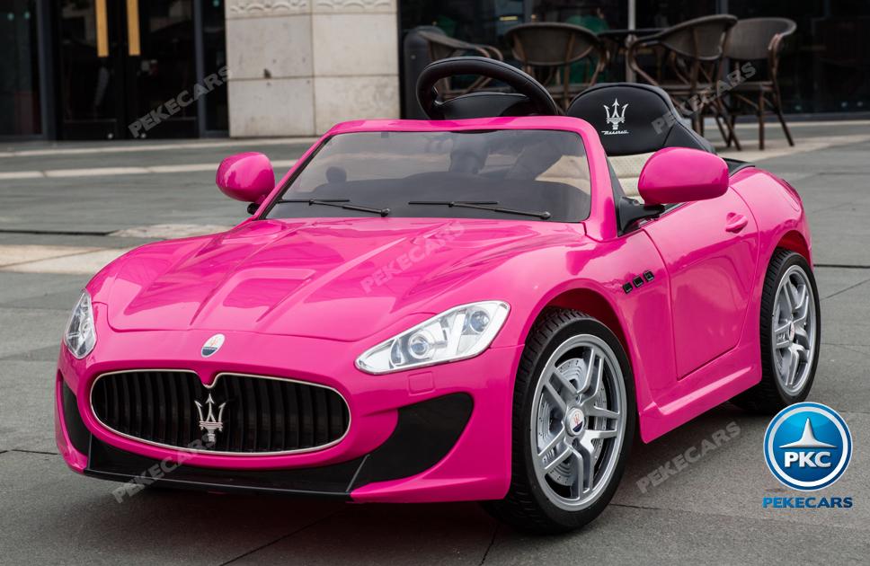 Coche electrico para niños Maserati Gran Turismo 12V Rosa vista principal