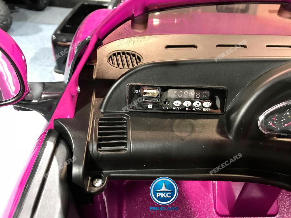 Coche electrico para niños Maserati Gran Turismo 12V Rosa