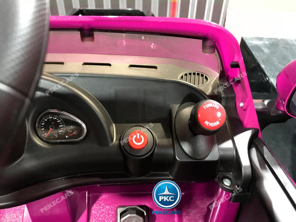 Coche electrico infantil Maserati Gran Turismo 12V Rosa luces traseras