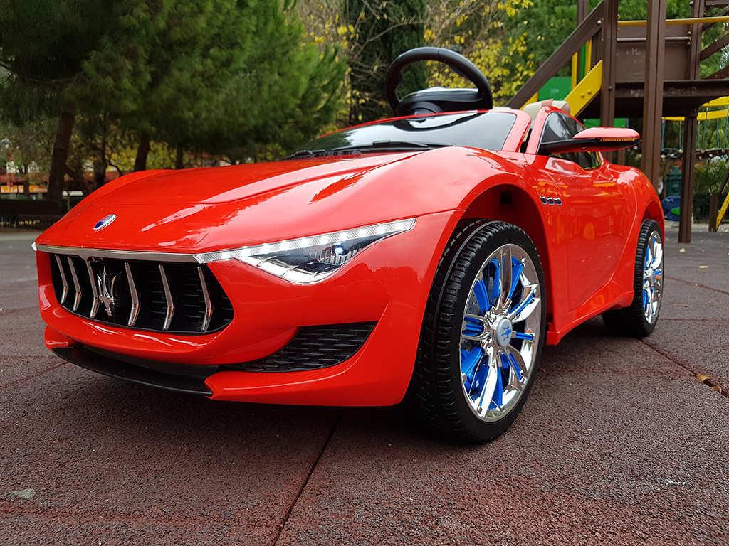 Coche electrico para niños Maserati Alfieri Rojo con Pantalla MP4 vista principal