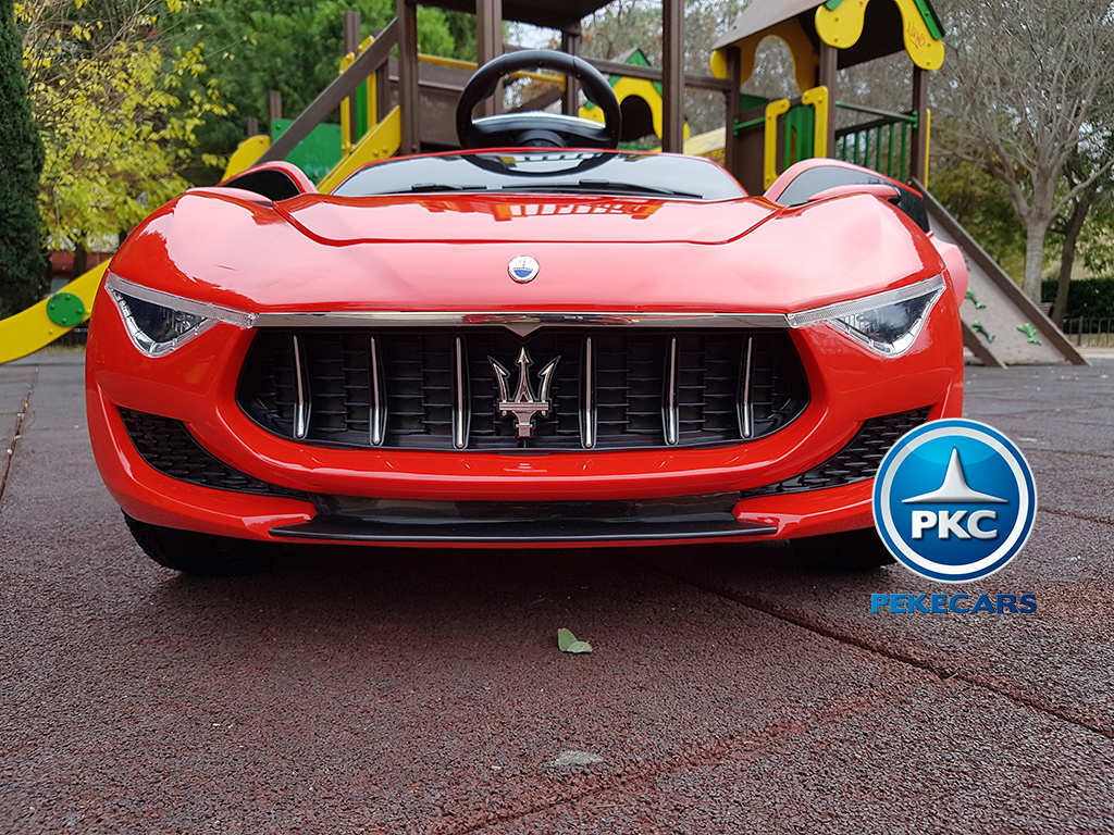 Coche electrico para niños Maserati Alfieri Rojo con Pantalla MP4 vista frontal