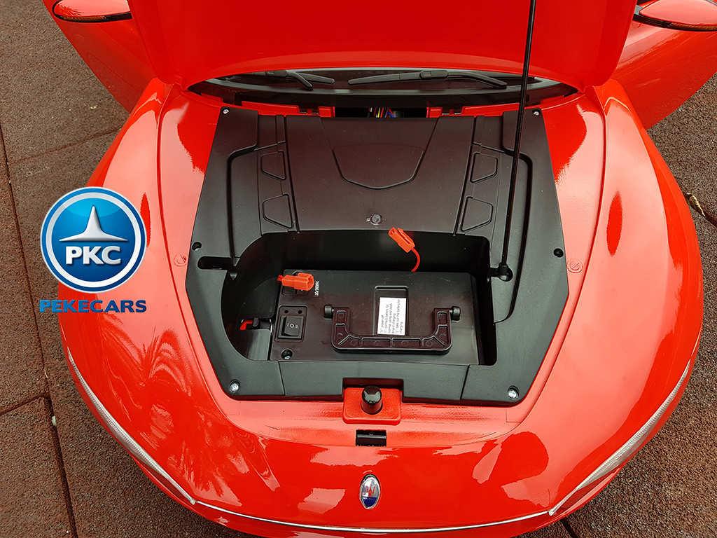 Coche electrico infantil Maserati Alfieri Rojo con Pantalla MP4 vista trasera