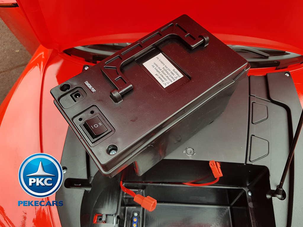 Coche electrico para niños Maserati Alfieri Rojo con Pantalla MP4