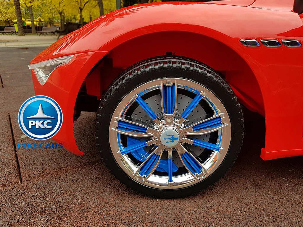 Coche electrico infantil Maserati Alfieri Rojo con Pantalla MP4 aereo