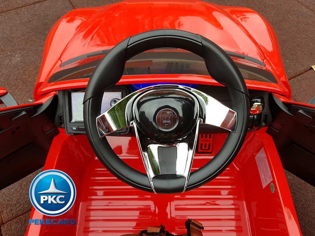 Coche electrico para niños Maserati Alfieri Rojo con Pantalla MP4 desde arriba