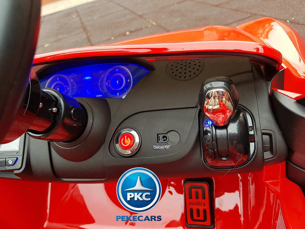 Coche electrico infantil Maserati Alfieri Rojo con Pantalla MP4 bateria extraible