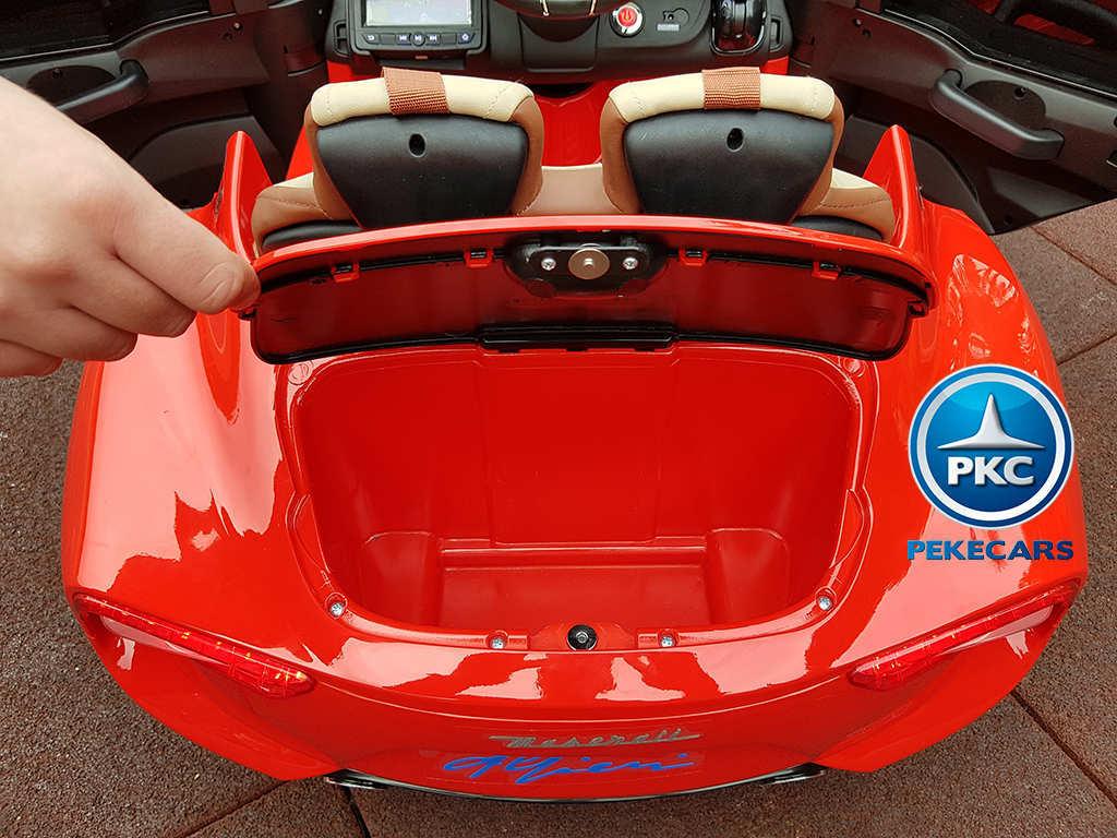 Coche electrico para niños Maserati Alfieri Rojo con Pantalla MP4 mando
