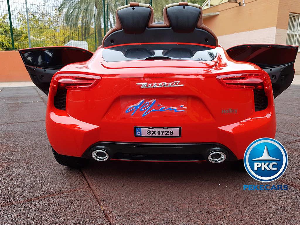 Coche electrico infantil Maserati Alfieri Rojo con Pantalla MP4 volante con claxon