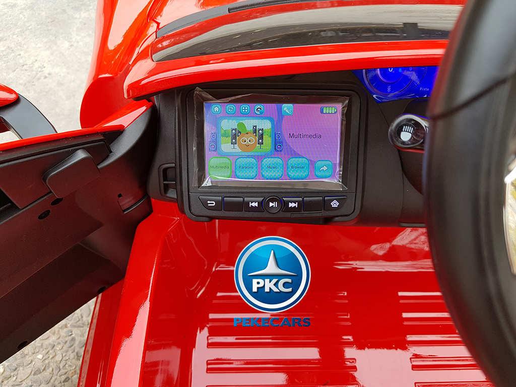 Coche electrico para niños Maserati Alfieri Rojo con Pantalla MP4 ruedas con luces