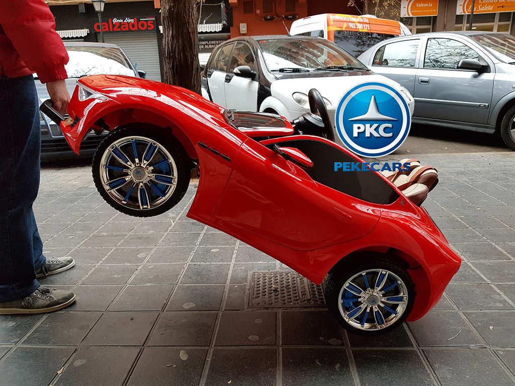Coche electrico infantil Maserati Alfieri Rojo con Pantalla MP4 luces traseras