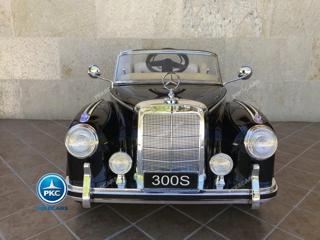 Coche electrico para niños Mercedes Benz 300S Negro vista frontal