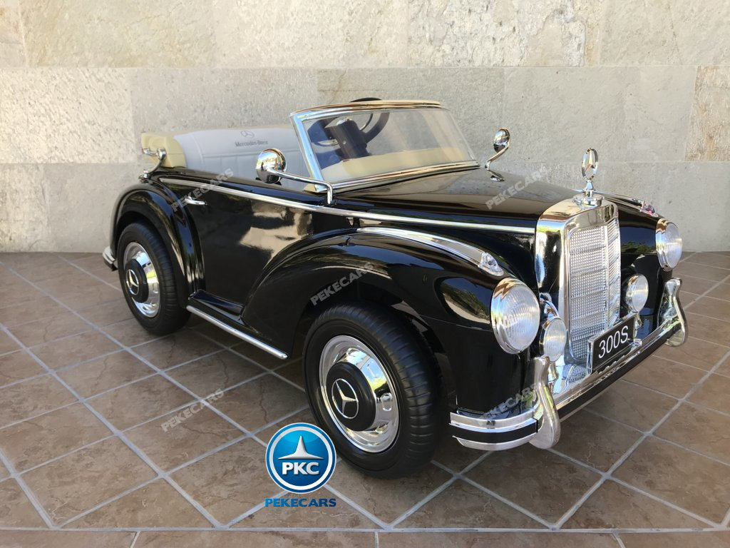 Coche electrico infantil Mercedes Benz 300S Negro detalles