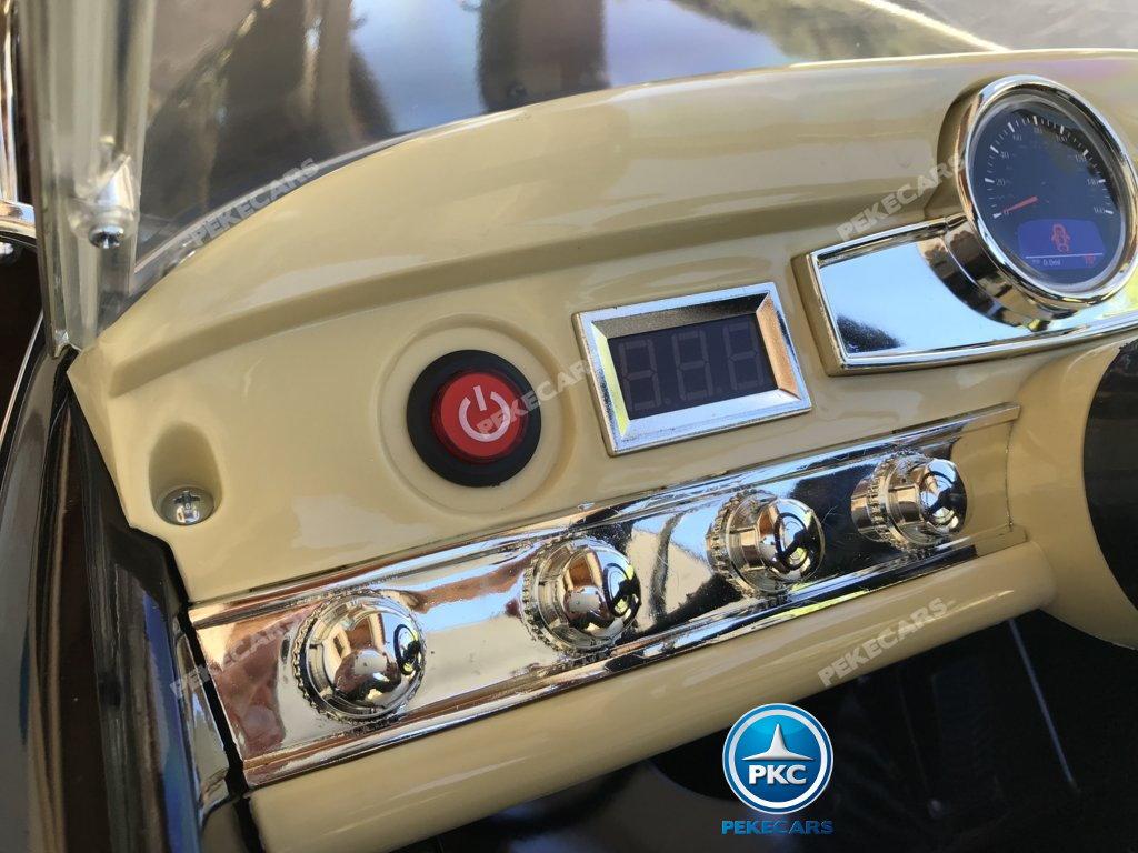 Coche electrico para niños Mercedes Benz 300S Negro con boton de arranque
