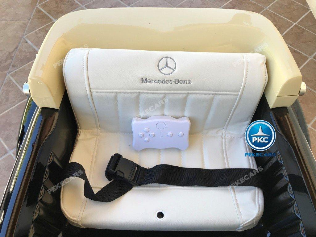 Coche electrico para niños Mercedes Benz 300S Negro asiento con cinturon de seguridad