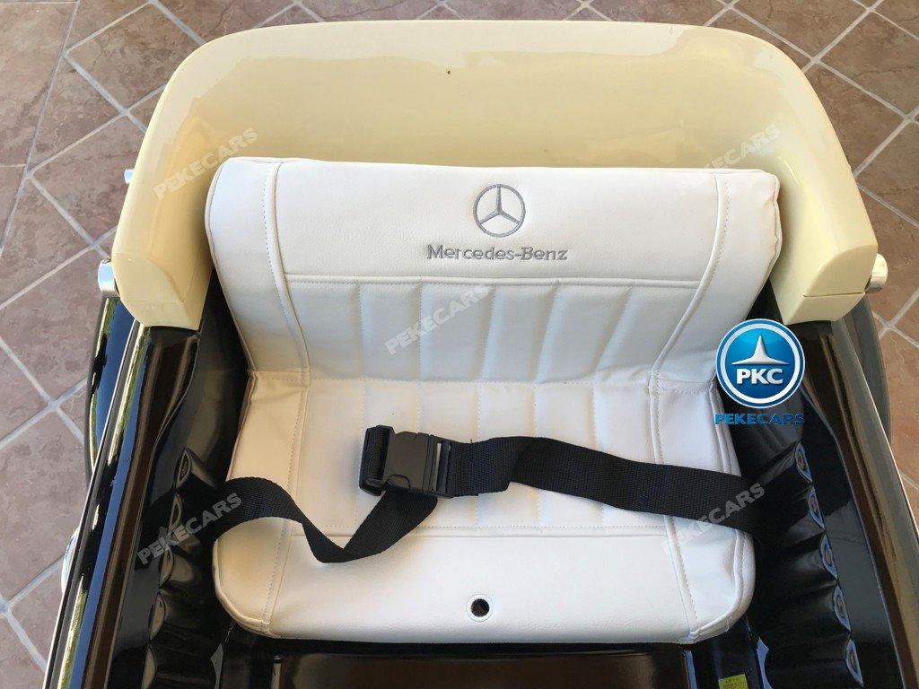 Coche electrico infantil Mercedes Benz 300S Negro asiento acolchado en piel