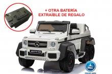 Coche electrico para niños New Mercedes G63 Blanco