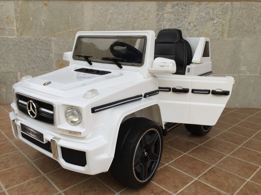 Todoterreno electrico para niños Mercedes G63 Blanco
