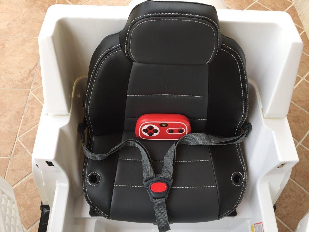 Todoterreno electrico para niños Mercedes G63 Blanco asiento acolchado en piel