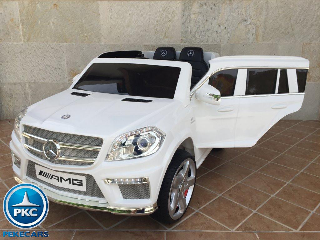 Coche electrico para niños Mercedes GL63 Blanco vista principal