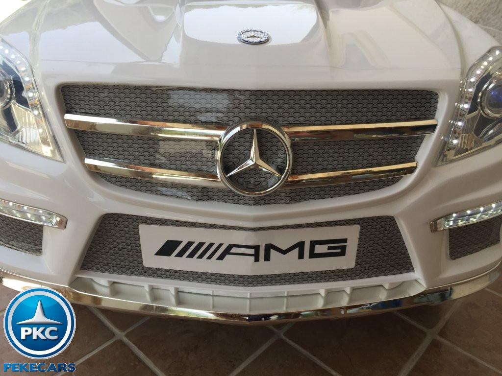 Coche electrico para niños Mercedes GL63 Blanco parrilla delantera
