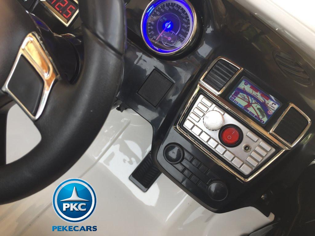 Coche electrico infantil Mercedes GL63 Blanco boton de arranque